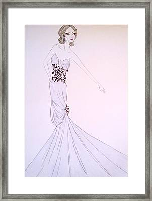 Dove Blue Gown Framed Print by Christine Corretti