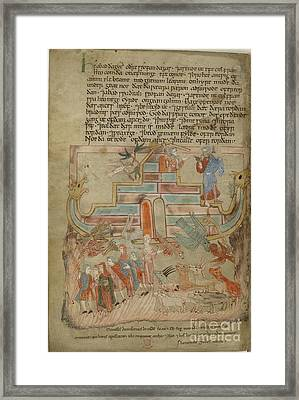 Dove Returns; Leaving The Ark Framed Print by British Library