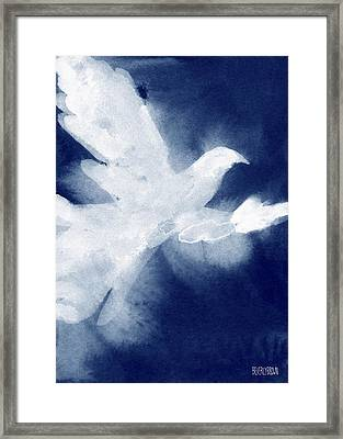 Dove Watercolor Painting Of Birds Framed Print by Beverly Brown