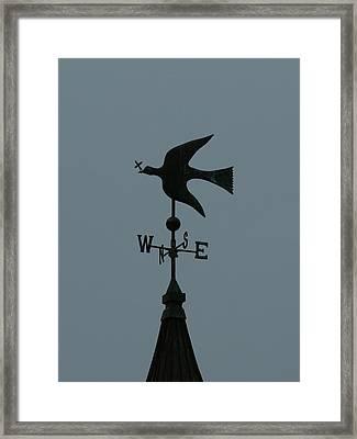 Dove Weathervane Framed Print by Ernie Echols
