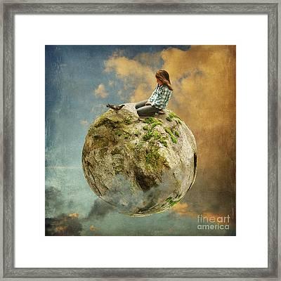 Dove Whisperer Framed Print by Sonya Kanelstrand