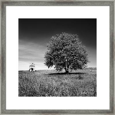 Dovecote. Auvergne. France Framed Print by Bernard Jaubert