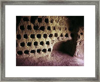 Dovecote In Orvieto, Italy Framed Print by Tim Holt