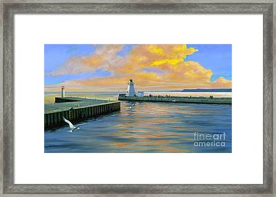 Dover Evening Framed Print by Michael Swanson