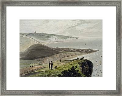 Dover, From Shakespeares Cliff, From A Framed Print by William Daniell