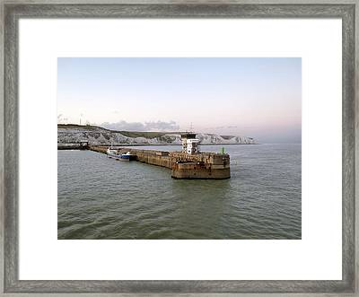 Dover Harbour, Uk Framed Print by Science Photo Library