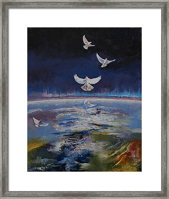 Doves Framed Print by Michael Creese