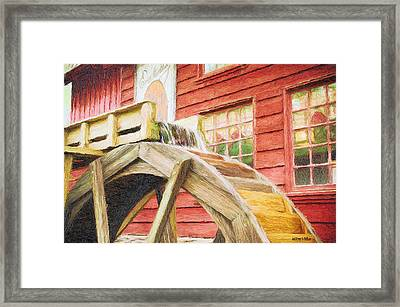 Down By The Old Mill Framed Print by Jeff Kolker