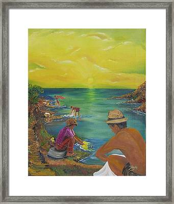Down By The River Framed Print by Barbara Hayes