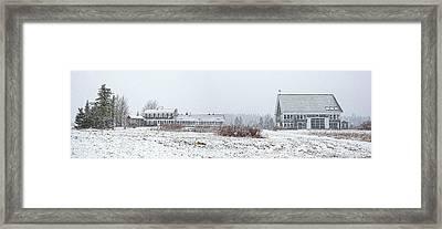 Down East Maine Farmhouse And Barn Framed Print by Marty Saccone