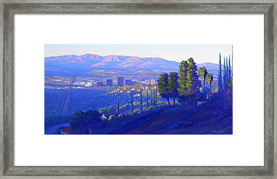 Down In The Valley Framed Print by Elena Roche