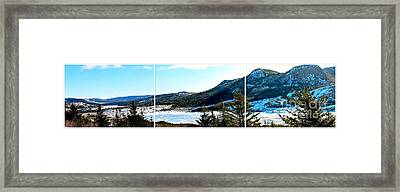 Down In The Valley Triptych Framed Print by Barbara Griffin