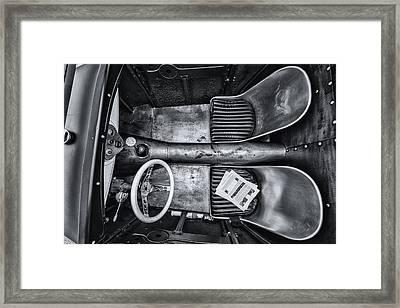 Down Into The Bucket Framed Print by CJ Schmit