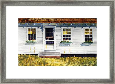 Down Maine Way Framed Print by Len Stomski