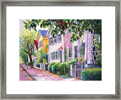 Down On Franklin Street Framed Print by Alice Grimsley