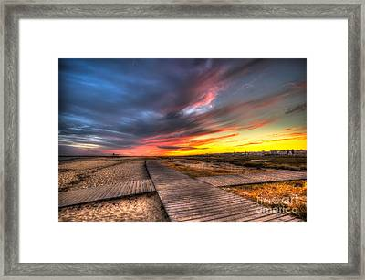 Down On The Boardwalk Framed Print by English Landscapes