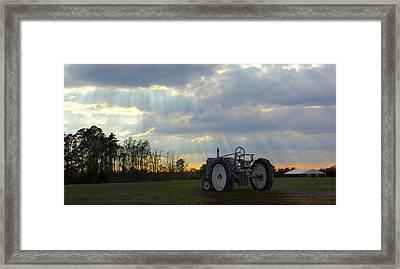 Down On The Farm Framed Print by Mike McGlothlen