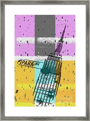 Down Park Av Framed Print by Az Jackson