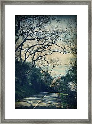 Down That Path Framed Print by Laurie Search