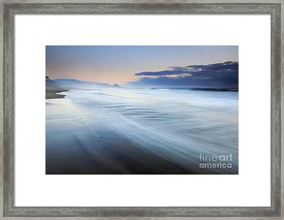 Down The Beach Framed Print by Mike  Dawson