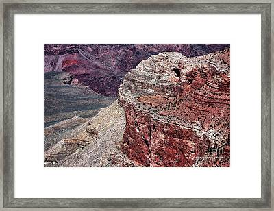 Down The Canyon Framed Print by John Rizzuto
