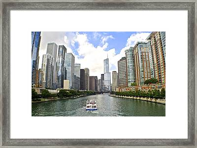Down The Chicago River Framed Print by Frozen in Time Fine Art Photography
