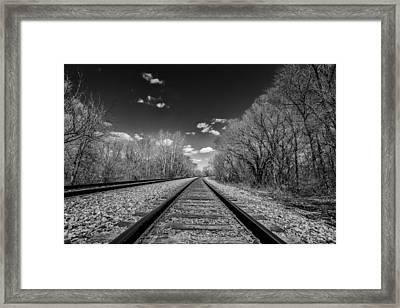 Down The Line Framed Print by CJ Schmit