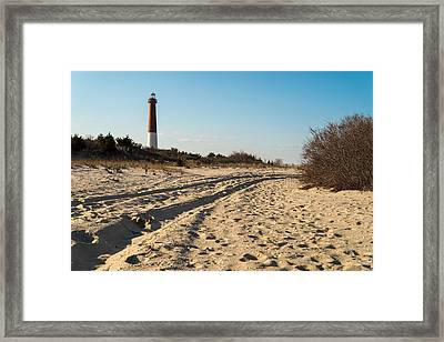 Down The Shore Framed Print by Kristopher Schoenleber