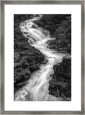 Down The Stream Framed Print by Jon Glaser