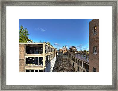 Down The Street Framed Print by Cindy Lindow
