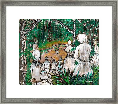 Down To The River To Pray Framed Print by Seth Weaver