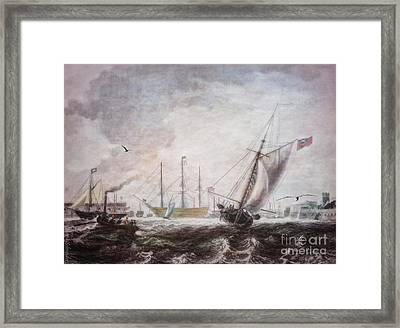 Down To The Sea In Ships Framed Print by Lianne Schneider