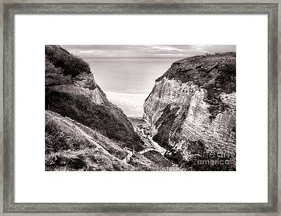 Down To The Sea Framed Print by Olivier Le Queinec