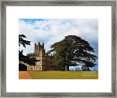 Downton Abbey Aka High Clere Castle 1 Framed Print by Courtney Dagan