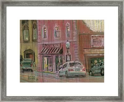Downtown Acworth Framed Print by Donald Maier