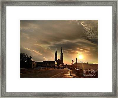 Downtown After The Rain Framed Print by Garren Zanker