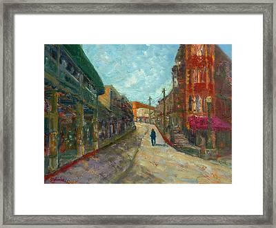Downtown All To Myself Framed Print by Jody Stephenson