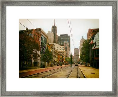 Downtown Buffalo Framed Print by Mountain Dreams
