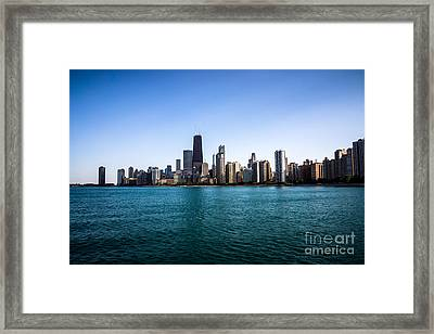 Downtown City Buildings In The Chicago Skyline Framed Print by Paul Velgos