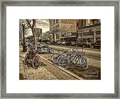 Downtown Coeur D'alene Idaho Framed Print by Scarlett Images Photography