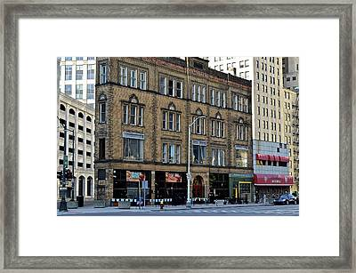 Downtown Detroit Framed Print by Frozen in Time Fine Art Photography