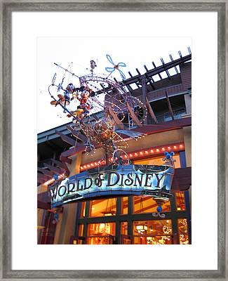 Downtown Disney Anaheim - 121211 Framed Print by DC Photographer