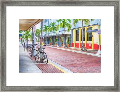 Downtown Fort Myers - Florida Framed Print by Kim Hojnacki