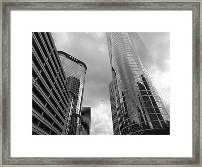Downtown Houston Framed Print by Dan Sproul