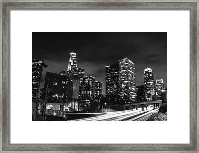 Downtown Los Angeles Framed Print by Art K