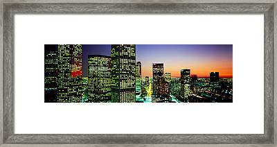 Downtown Los Angeles Ca Usa Framed Print by Panoramic Images