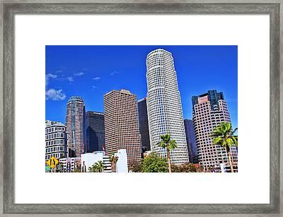 Downtown Los Angeles Framed Print by Mariola Bitner