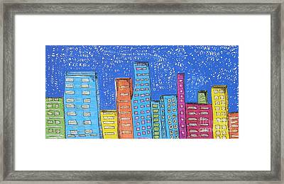 Downtown Framed Print by Marcia Weller-Wenbert