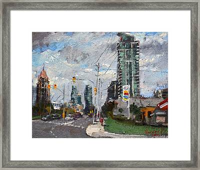 Downtown Mississauga On Framed Print by Ylli Haruni