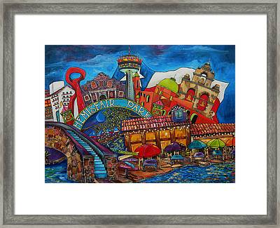 Downtown Montage San Antonio Framed Print by Patti Schermerhorn